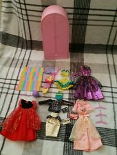 Barbie Wardrobe Pink with clothing and accessories