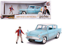 1/24 Jada 1959 Ford Anglia & HARRY POTTER Figure Diecast Model Light Blue 31127