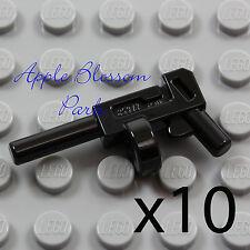 NEW Lot/10 Lego Minifig BLACK TOMMY GUN Joker/Batman Round Magazine Weapon