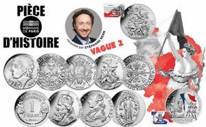 """SERIE monnaie 2019 """"piece d'histoire"""" 10 euro argent cartelette blister Louis"""