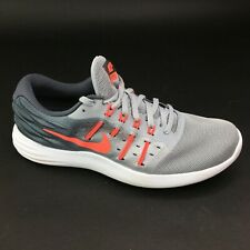 Nike Women's Lunarstelos Size 9M 844736-003 Athletic Shoes Grey Orange