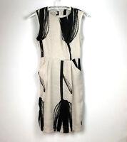 Malene Birger Dress Size 34 UK Size 6 Cream Black Shift