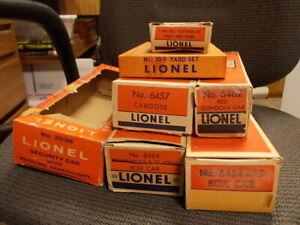 7 POSTWAR LIONEL   BOXES ONLY AUCTION