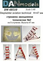 Dan Models 48510 - 1/48 Stepladder Aviation Technical #2 (5 Steps), Height 47mm