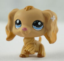 Tan Cocker Spaniel Dog Blue Eyes Littlest Pet Shop LPS 1716 Caramel Tip Ears USA