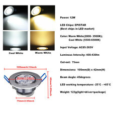 9W/12W/15W/21W/27W/36W/45W LED Dimmable Recessed Ceiling Down Light Lamp 85-265V