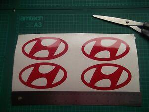 HYUNDAI    logo / badge car vinyl decal sticker .....x4