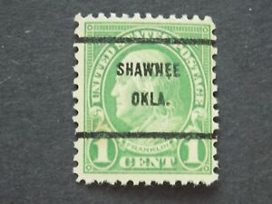 (1) MNH U. S. DEFINITIVE pre cancel stampr-1 c Franklin.w/a SHAWNEE, OKLA cancel