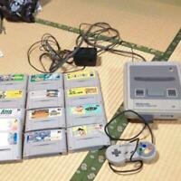 Nintendo Super Famicom Console System with Lot of 13 Games Shipping Free Tested