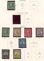 UNITED STATES 1923-1925 SELECTION MINT H/NH ON PAGE AS SHOWN