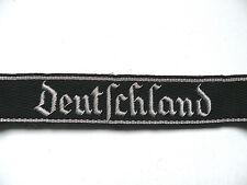 WW2 German Elite Deutschland Cuff Title (Bullion on Black Backing)