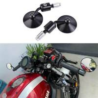 "MOTORCYCLE CNC 7/8"" HANDLE BAR END MIRRORS FOR CAFE RACER CLUBMAN BOBBER BUELL"