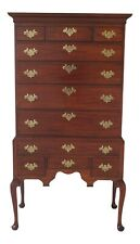 48232EC: KINDEL Flat Top Queen Anne New England Highboy