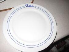Vintage Hotel Nutibara Restaurant Dinner Plate VGC White with Blue Print