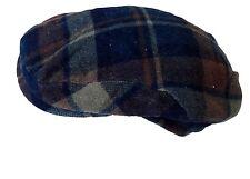 Vintage Wool Flat Cap Indie Retro 56cm Diameter