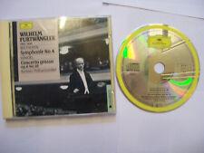 FURTWÄNGLER/BEETHOVEN/HANDEL: Symphonie 4/Concerto Grosso 1989 EU CD REMASTERED