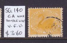 W.A.: 2d Yellow Swan Sg 140 Wmk Ca V.F.Used.