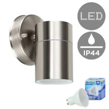 Modern Ip44 Stainless Steel LED Wall Light Outdoor Lantern Daylight Gu10 Bulb