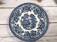 "BLUE CHURCHILL 8 DINNER PLATES 10 3/8"" England Lion Logo"