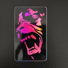 An American Werewolf in London Holographic Sticker Neon Pink