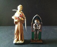 Lot of 2 Italy/Italian Sacred Family & Saint Francis of Assisi Figurine Statue