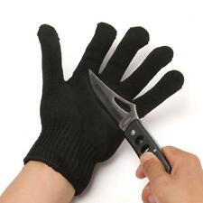 1Pc Outdoor Black Gloves Working Protective Cut-Resistant Anti Abrasion Safety
