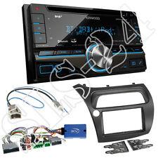 Honda Civic VIII R S ab06 2-DIN Blende+Lenkrad Adapter+Kenwood DPX7000DAB Radio