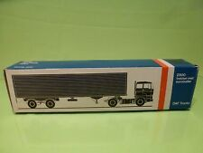 LION CAR 59 DAF TRUCKS 2800 EUROTRAILER - 1:50 GOOD * ONLY EMPTY BOX * (32)
