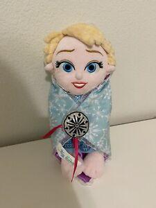 Disney Parks Frozen Disney Babies Elsa Baby Plush Doll with Blanket