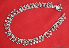old silver jewelry anklet tribal belly dance antique