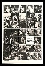 THE ROLLING STONES * GIMME SHELTER * CineMasterpieces ORIGINAL MOVIE POSTER 1970