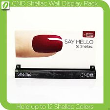 CND Shellac Salon Display Rack Hold 12 Colors + Back Panel for Wall - Table Top