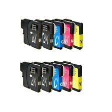 10x Brother Tinte  DCP-J125 DCP-J315W  MFC-J220 MFC-J265W MFC-J410 MFC-415 LC985
