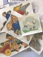 Vintage Transfers wood plastic leather walls decoupage paper Nursery Rhyme dog