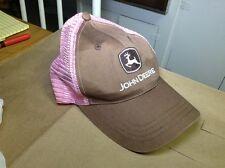 pink John Deere mesh used hat