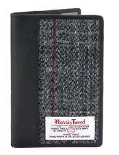 Gris Harris Tweed And Leather Pasaporte y Tarjeta Soporte en Caja