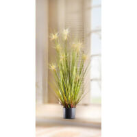 """Large 45 in Deco Faux Pot Plant /""""Silver Grass/"""""""