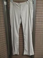 MOSSIMO women's 100% linen pants, size 6, light gray, slight bootcut