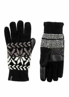 Isotoner Women's Gloves Split Snowflake Chenille smarTouch Microluxe Tech OS
