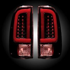 RECON 264293RBK Ford Superduty 08-16 F250HD 350 450 550 Red-Smoked Tail Lights