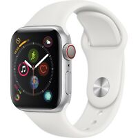 Apple Watch Series 4 GPS + Cellular 40mm Silver Case and White Band MTUD2LL/A