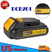 New For DeWALT DCB201 Upgrade Li-Ion Battery 20V Max DCF885 DCD777 DCD771 DCB203