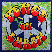 Embroidery Badge Clothes Patch Embroidered Peace On Earth Iron Sew On Hippie WWF