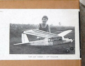 1936 Dallaire Sportster 109 inch  Oldtimer  RC AIrplane Printed Plans