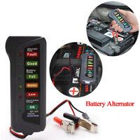12V Auto Car Digital Battery Alternator Tester LED Display Motor Diagnostic RF
