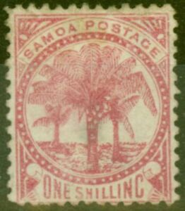 Samoa 1886 1s Rose SG25 Good Mtd Mint
