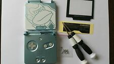 CARCASA COMPLETA+PANTALLA COMPATIBLE GAME BOY ADVANCE SP DONKEY GREEN NEW/NUEVO