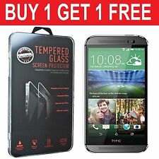 100%Genuine  Tempered Glass Film Screen Protector Guard For HTC One M7  -New