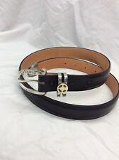 James Reid ltd. sterling 925  14k Callaway Golf buckle 3 pieces leather belt