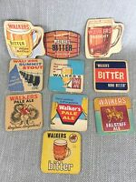Vintage Beer Mats Walkers Brewery Beermats Bierdeckel Stout Ale Job Lot